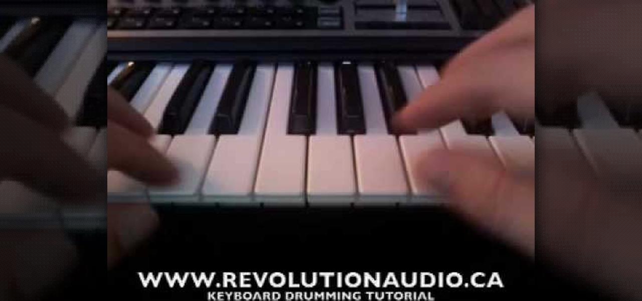 play drums on keyboard