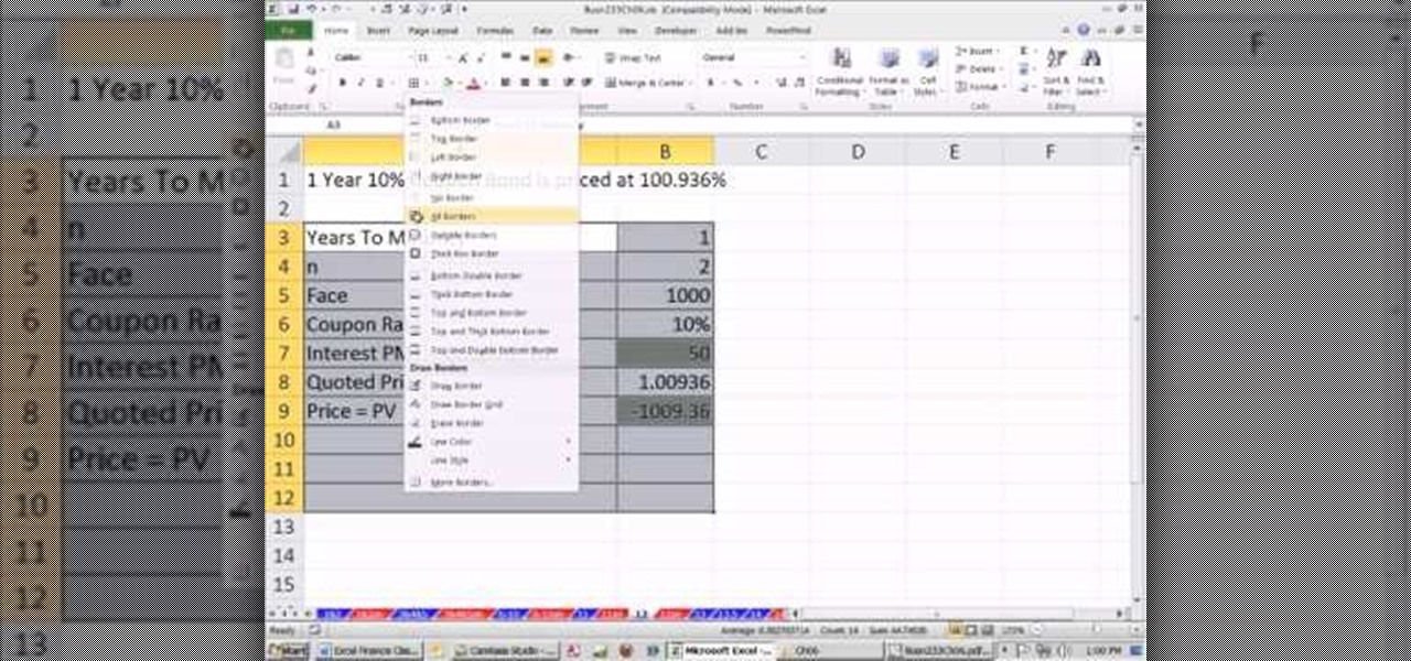 how to calculate market return in excel