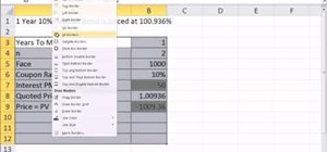 Calculate yield to market & effective annual yield from bond price in Excel