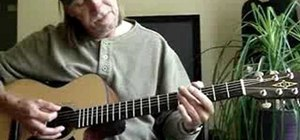 Play a jazzy G blues progression on acoustic guitar