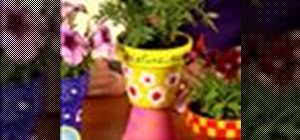 Make personalized flower pots