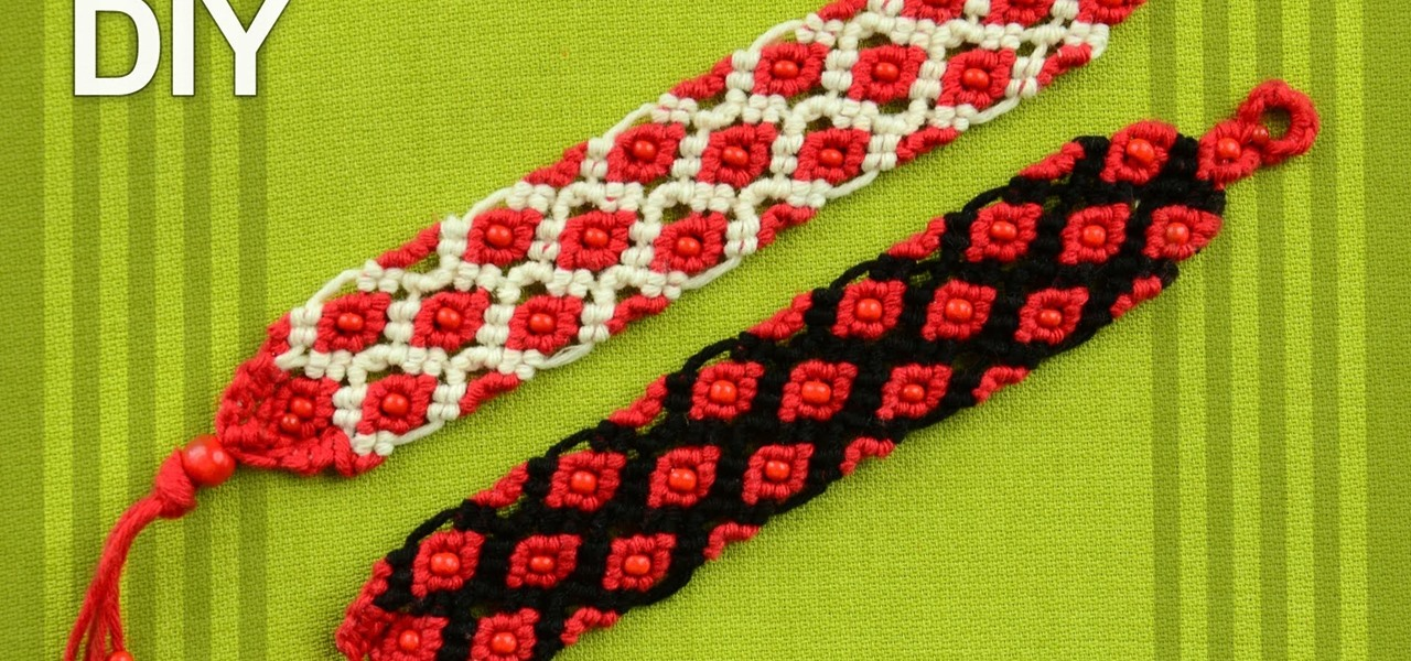 Make a Macrame Bracelet with Small Beads.