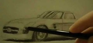 Draw a realistic car on paper