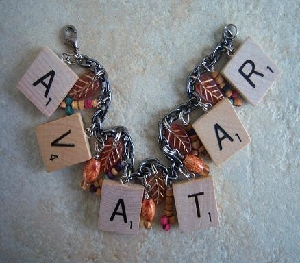 Avatar Charm Bracelets — Made from Real SCRABBLE tiles