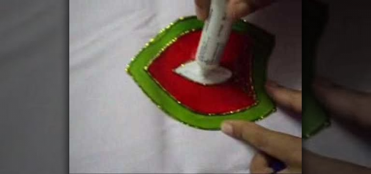 How To Paint A Rangoli Design Using Glass Stencils Stamps Wonderhowto