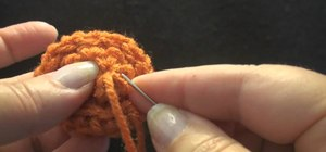 Make a usable and cute button out of crochet thread
