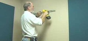 Install an acoustic wall panel using a zbar