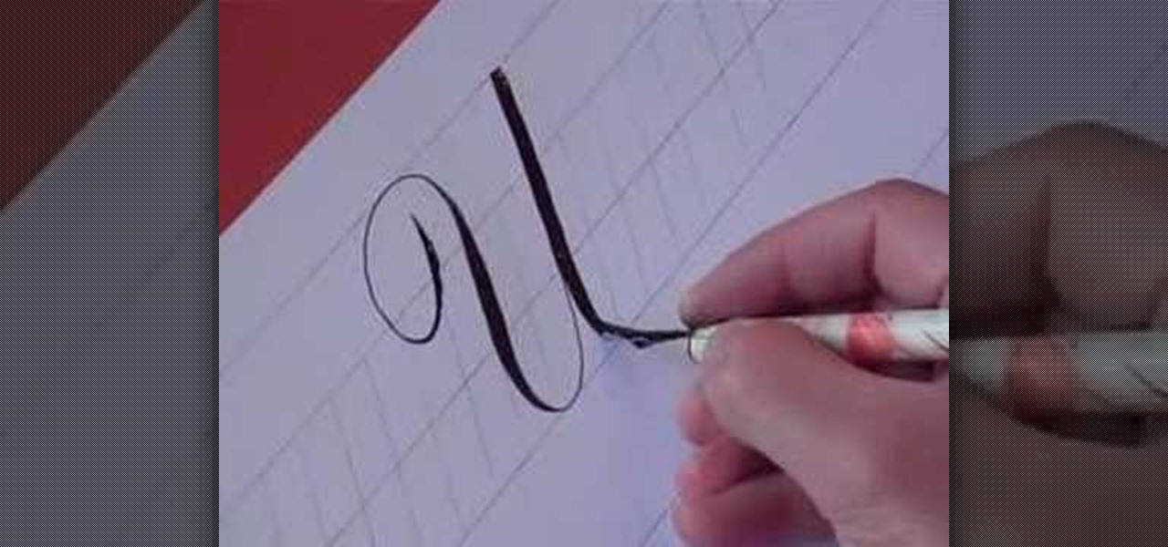 How To Write The Letter U In Calligraphy Copperplate
