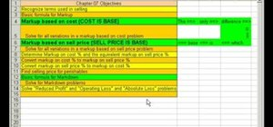 Work with cost & selling price markup in MS Excel