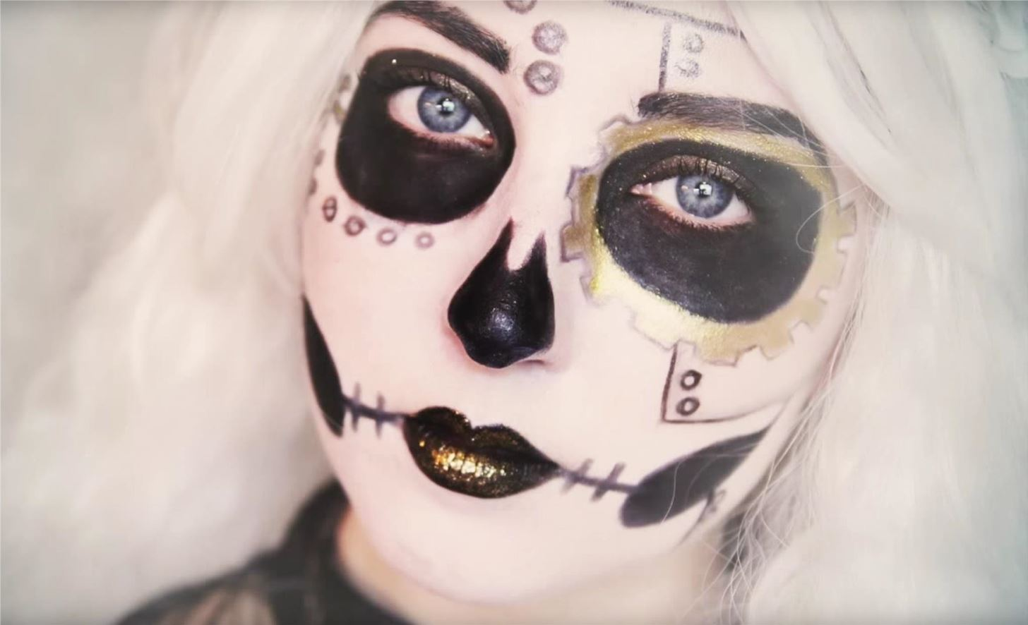 skeleton halloween makeup pictures