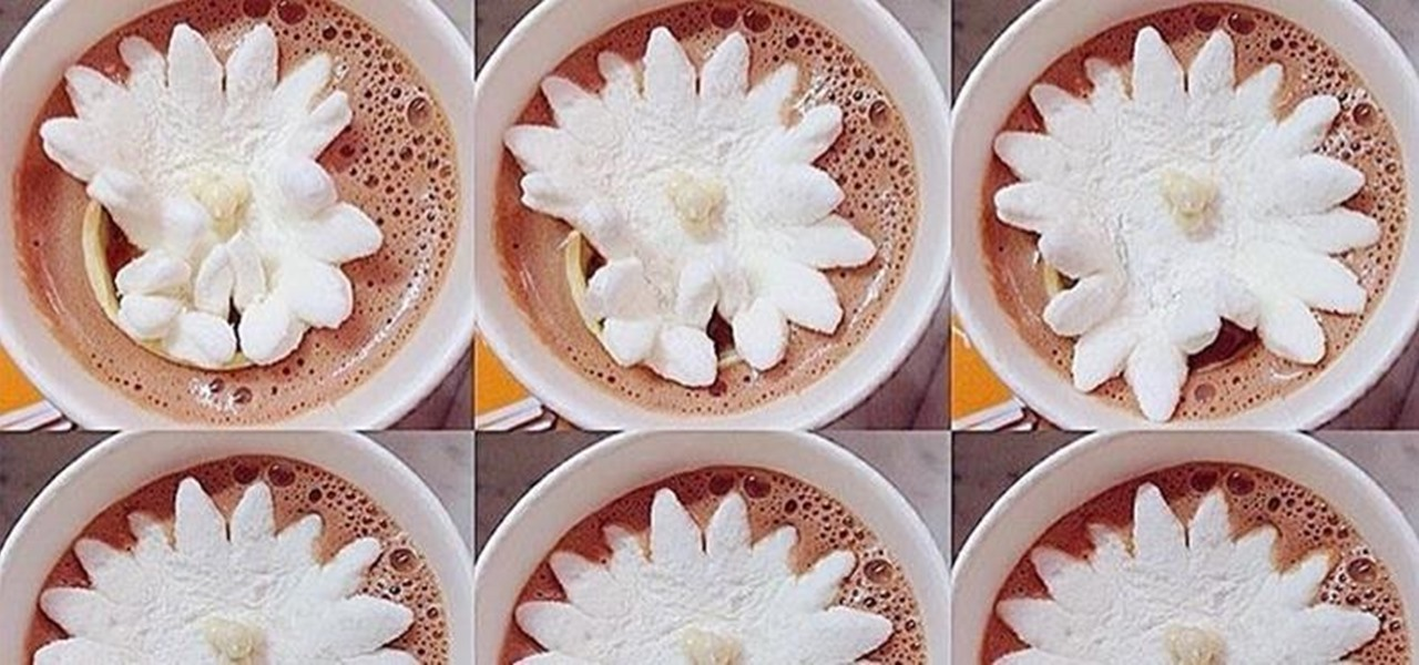 These Marshmallow Flowers Actually Bloom in Hot Chocolate