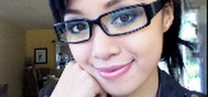 Wear smoky royal blue eyes with glasses