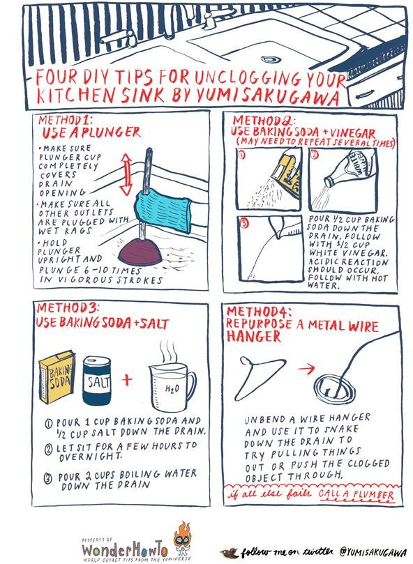 4 Diy Ways To Unclog Your Kitchen Sink 171 The Secret Yumiverse