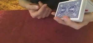 "Do the one-handed ""Charlier"" card cut"