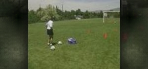Run an obstacle course for soccer practice