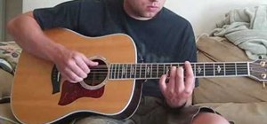 "Play ""Breakeven"" by The Script on acoustic guitar"