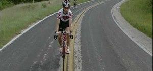 Shift the gears on a road bike