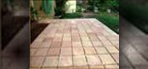 Make a tile patio