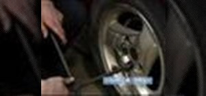 Replace a damaged lug nut stud