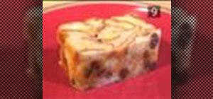 Make croissant bread pudding