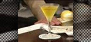 Make a Saffron Vodka Martini cocktail