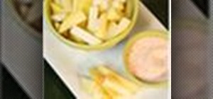 Make green mangos with chili, salt and sugar