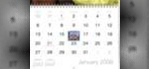 Create a calendar in iPhoto '08