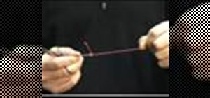 Tie a hemostat quick clinch knot when fly fishing