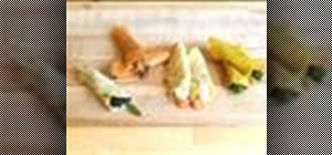Make  stuffed crepe canapes