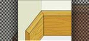 Install baseboard with a coping joint