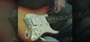 Set up a Fender Stratocaster electric guitar