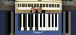 Play chord variations in C on the piano