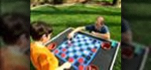 Create a fun activity table and checkerboard in one