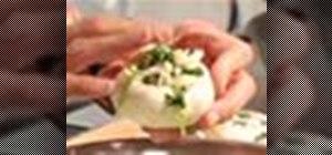 Make spinach and crab stuffed mushrooms