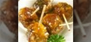 Make sweet and sour meatball hors d'oeuvre