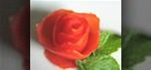 Carve a tomato rose