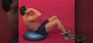 Exercise with the seated trunk rotation on the bosu