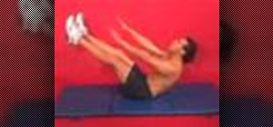 Exercise with the isometric V sit