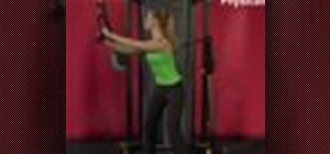 Exercise with the cable trunk rotation high to low