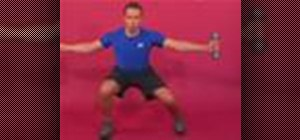 Exercise with the dumbbell side lunge & shoulder raise