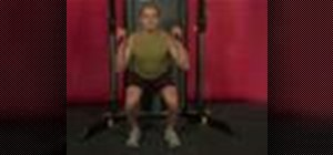 Exercise with the cable squat