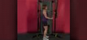 Exercise with the tricep pressdown with straight bar
