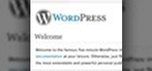 Design for the WordPress blogging CMS