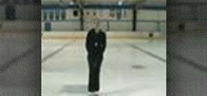 Practice beginner level ice skating