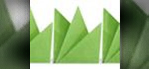 Origami grass Japanese style