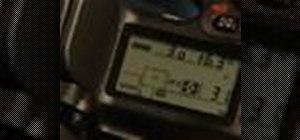 Use shutter priority mode on Nikon D80 D-SLR camera