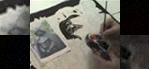 Draw and ink Han Solo and Darth Vader from Star Wars