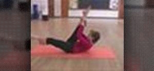 Do the hamstring pull pilates exercise