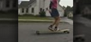 Do the cross step on the long board
