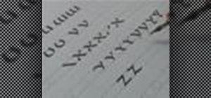 Write the uncial calligraphy alphabet Z